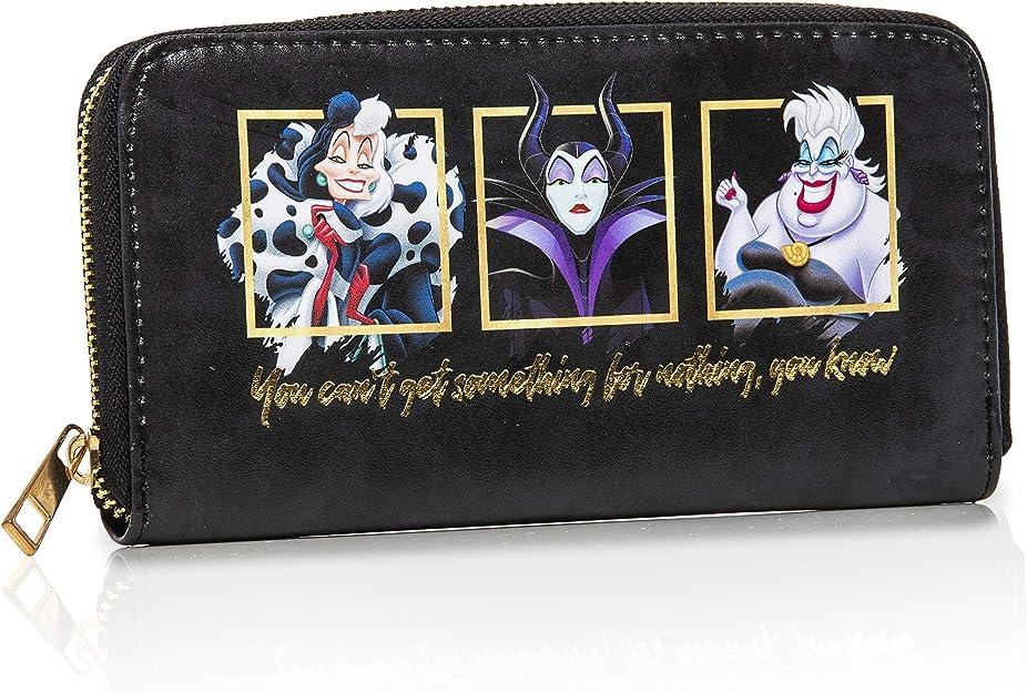 Disney monedero con Maléfica, Ursula y Cruella De Vil | Colecciones Exclusivas De Los Villanos, Regalos Originales Para Mujer