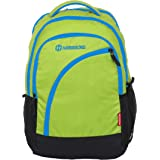 Harissons Bags Yes Boss Green   Blue Polyester School College Backpack for  Men and Women 8605dd6b9be85