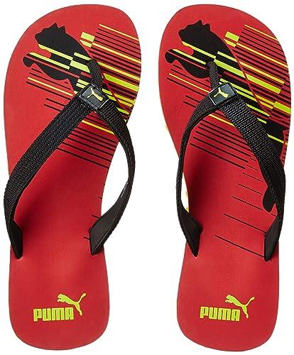 877a37cf6d2e Puma Unisex Shore IDP Toreador-Puma Black-Limepunch Flip Flops Thong Sandals  - 11