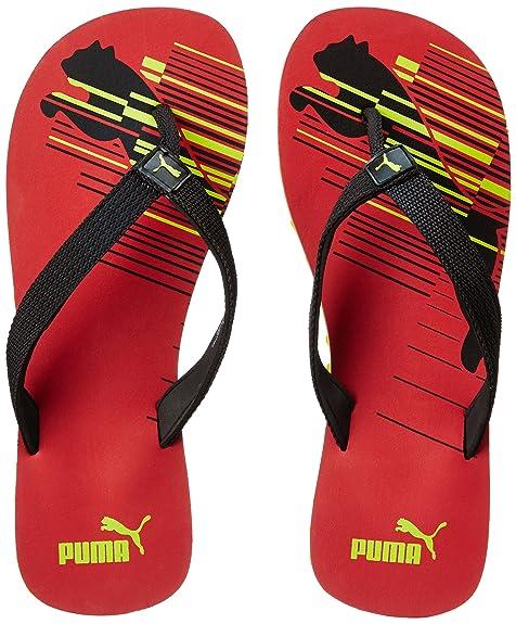 242d7a56c Puma Unisex Shore IDP Toreador- Black-Limepunch Flip Flops Thong Sandals -  11 UK