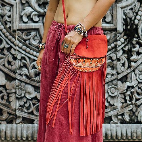 72850ece14 Amazon.com  Changnoi Fair Trade Fringe Sling Bag