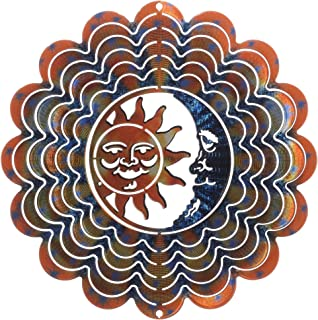 product image for Next Innovations Blue and Copper Sun and Moon Kaleidescope Eycatcher, Medium (Discontinued by Manufacturer)