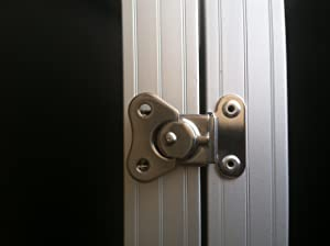 Latch in closed position