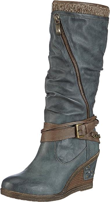 Mustang Stiefel Damen Langschaft Stiefel