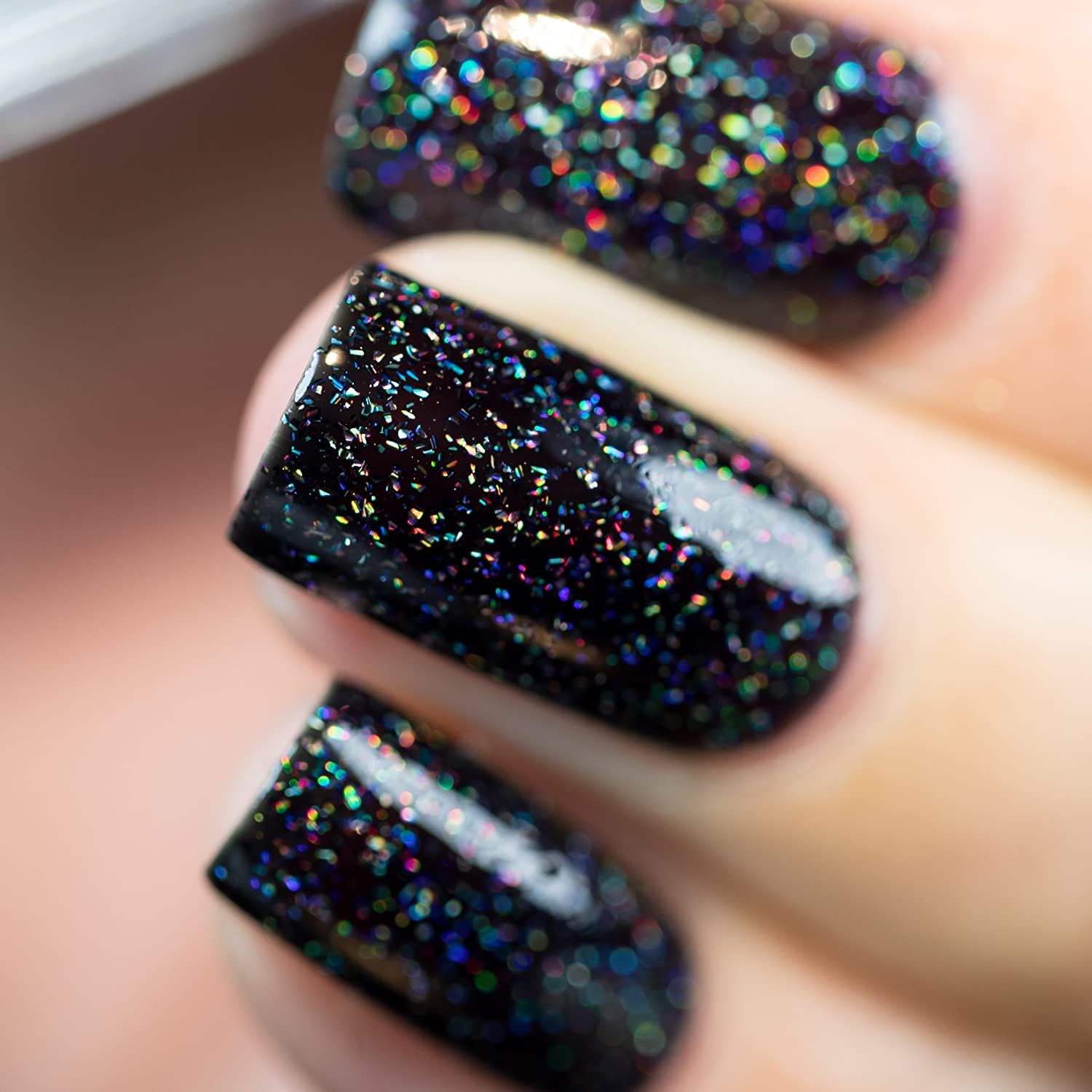 How To Make Nail Polish Not Chip: TRUE Black Holographic Jelly Nail Polish