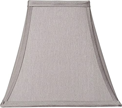 Pewter Gray Square Shade 5.25x10x9.5 Spider – Springcrest