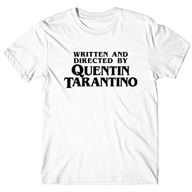 600f94f70a30d8 LaMAGLIERIA T-Shirt for Man Written and Directed by Quentin Tarantino -  100% Cotton  Amazon.co.uk  Clothing