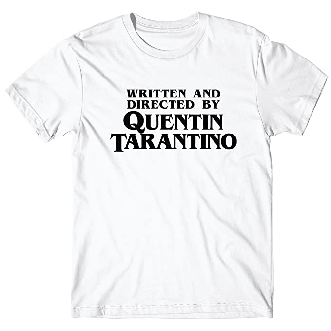 7eefcf390 LaMAGLIERIA T-Shirt for Man Written and Directed by Quentin Tarantino -  100% Cotton: Amazon.co.uk: Clothing