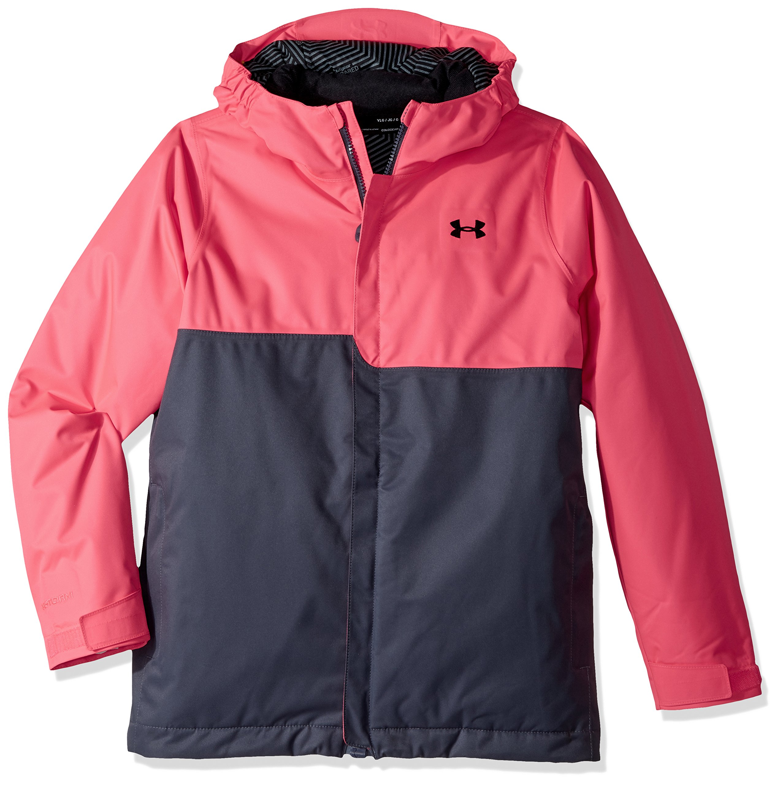 Under Armour Outerwear Youth Girls Pp Rideable Jacket, Penta Pink/Black, X-Small