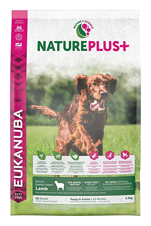 EUKANUBA Nature Plus+ Puppy & Junior Rich In Freshly Frozen Lamb Comida para Perros - 2300