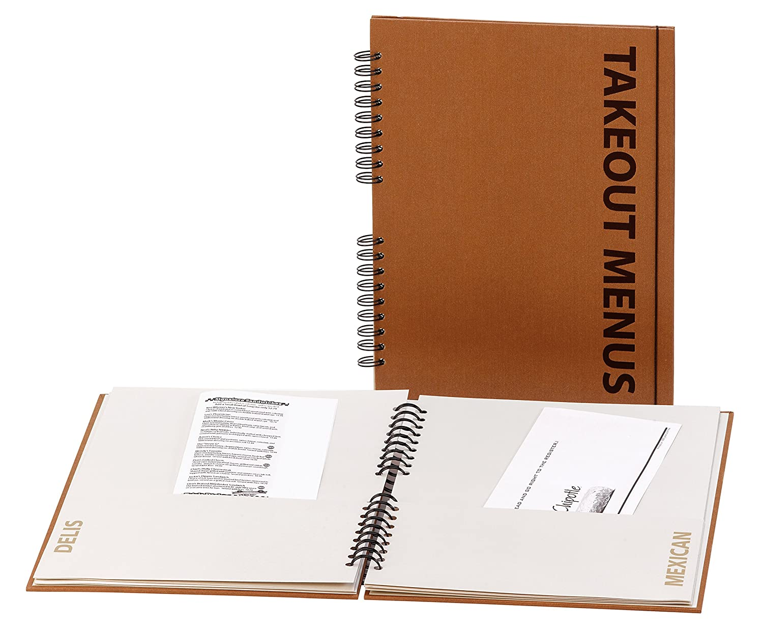 Meadowsweet Kitchens Takeout Menu Organizer, Brown MCO/BN