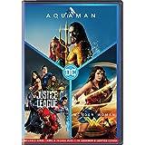 DC 3 Movies Collection: Aquaman + Justice League + Wonder Woman (3-Disc Box Set)