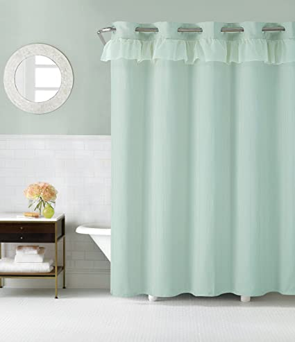 Image Unavailable Not Available For Color Hookless RBH29FC106 Waterfall Shower Curtain With PEVA Liner