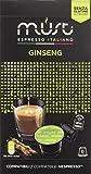 Must Espresso Italiano 100 Capsule Compatibili Nespresso Ginseng Senza Glutine - 10 confezioni da 10 capsule