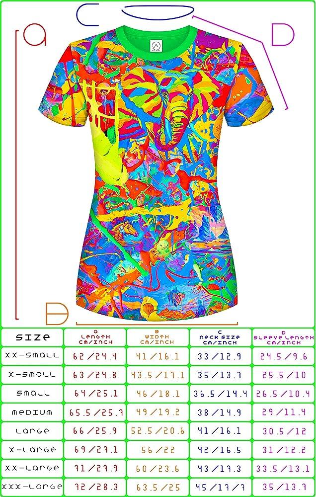 Amazon.com: Aofmoka - Camiseta de neón para mujer con luz ...