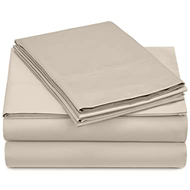 Pinzon 500-Thread-Count Pima Cotton Sateen Sheet Set - Queen, Canvas