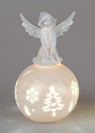 Itrr Formano Weihnachtsdeko Engel Auf Kugel Beleuchtet Porzellan 15