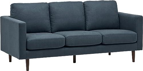 Amazon Brand Rivet Revolve Modern Upholstered Sofa Couch - a good cheap living room sofa
