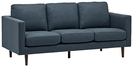 Rivet Revolve Mid-Century Modern Sectional Sofa Couch, 80 W, Denim