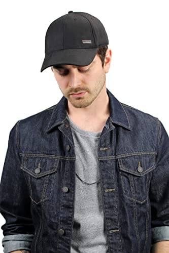 51b18d54 Baseball Hats for Men by King & Fifth | Baseball Hat with Low Profile &  Stylish Fabric + Baseball Caps + Black Baseball Cap at Amazon Men's  Clothing store: