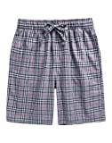 TINFL Youth Boys Plaid Cotton Sleep Lounge Shorts
