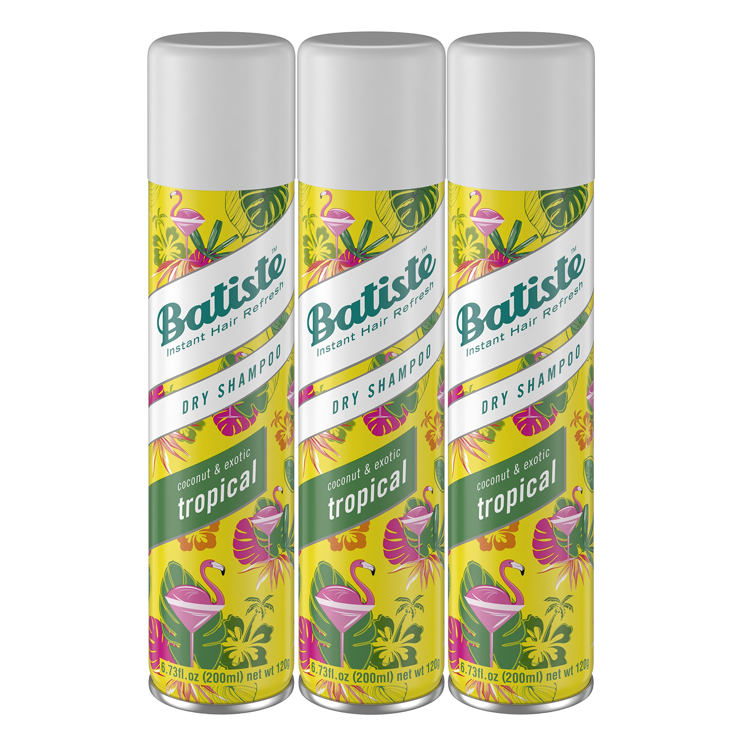 Batiste Dry Shampoo, Tropical Fragrance, 6.73 Fl Oz, Pack of 3 by Batiste