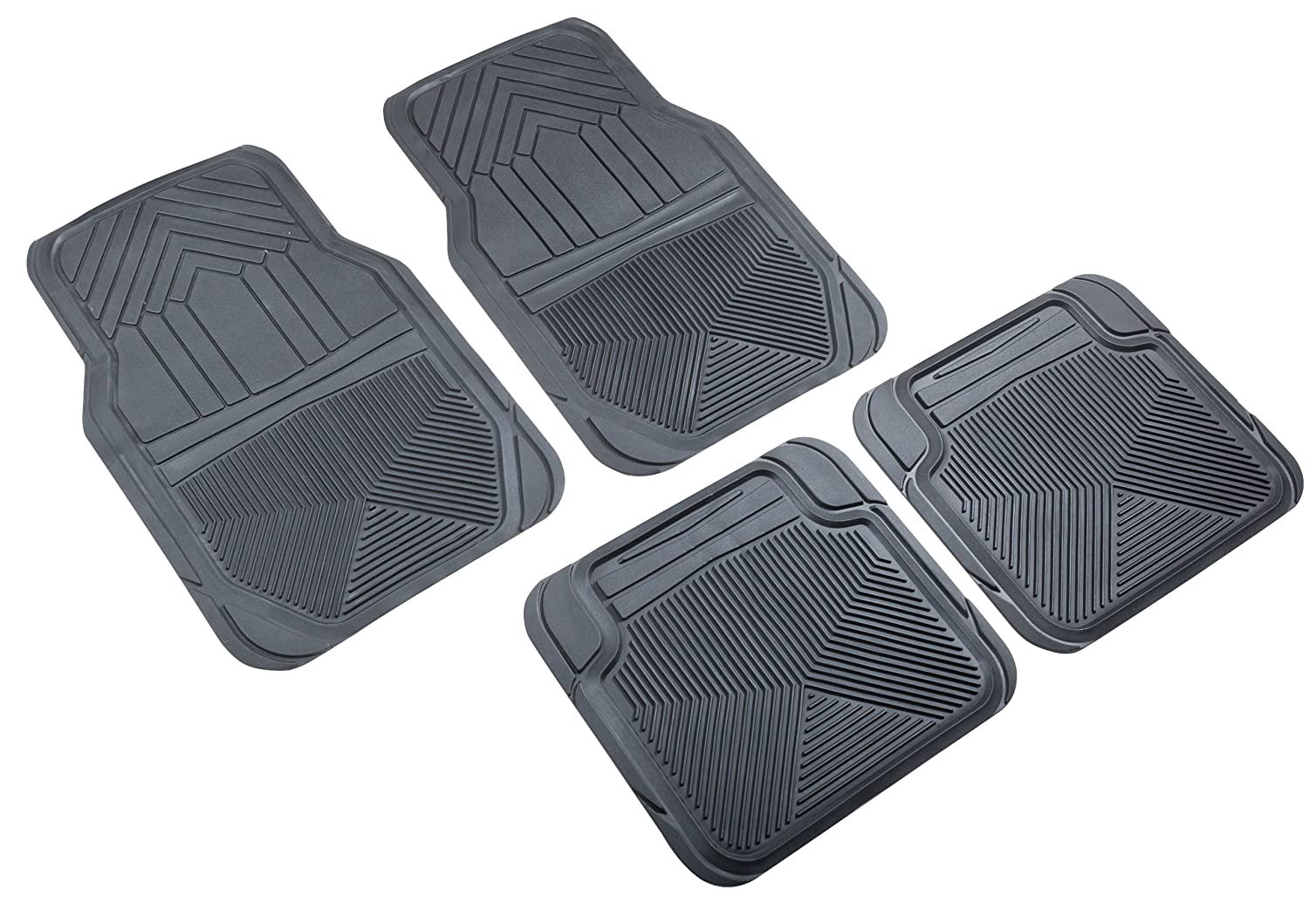 Highland 4547800 Weather Fortress Gray Premium Synthetic All Weather Floor Mat 4 Piece