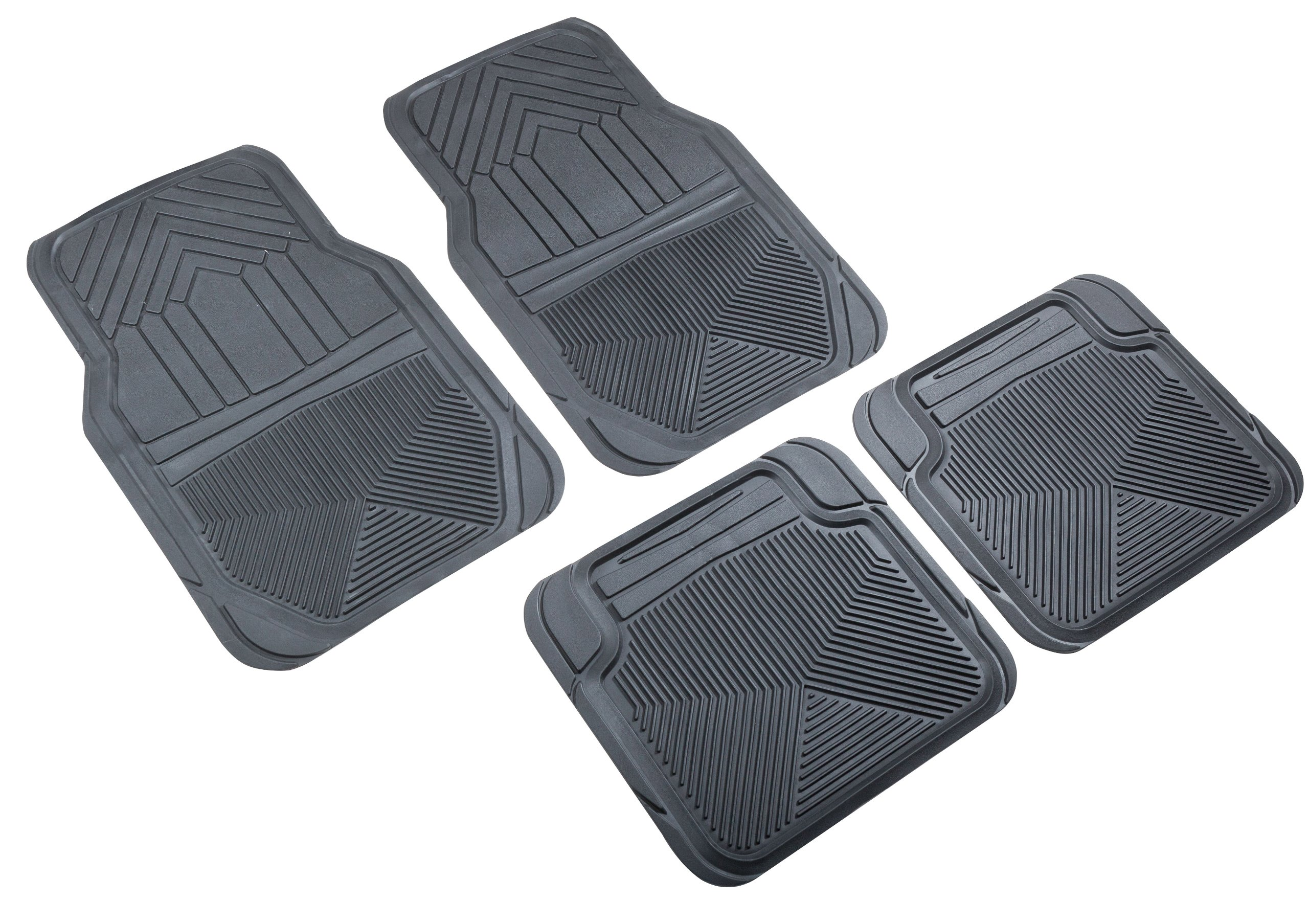 Highland 4647800 Weather Fortress Black Premium Synthetic All Weather Floor Mat - 4 Piece by Highland (Image #1)