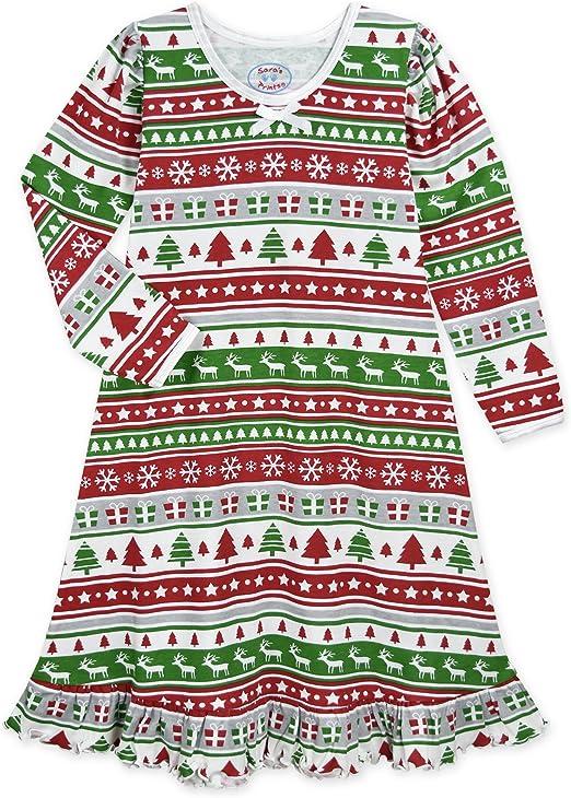 NEW Sara/'s Prints Santa Claus Ho Ho Christmas Pajamas PJs 2-Piece Little Kids 8