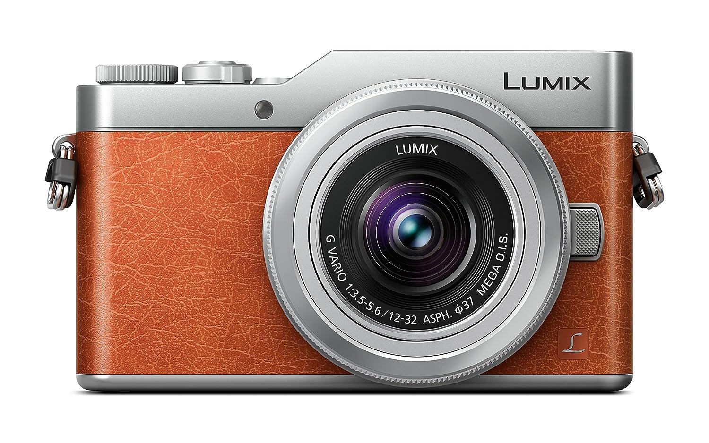 Panasonic Lumix DC-GX800 - Cámara Digital 12-32/3.5-5.6 Vario ASPH Mega O.i.s, Color Naranja y Gris [Versión Importada]