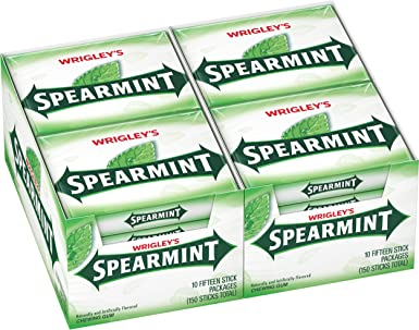 Wrigleys Spearmint Gum, 15-Stick Slim Packs (Pack of 20): Amazon ...