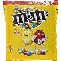 M&M'S Peanut / Schokolierte Erdnüsse in bunter Zuckerglasur / Ideal zum Knabbern, Verschenken und Backen / 5er Pack (5 x 330g)
