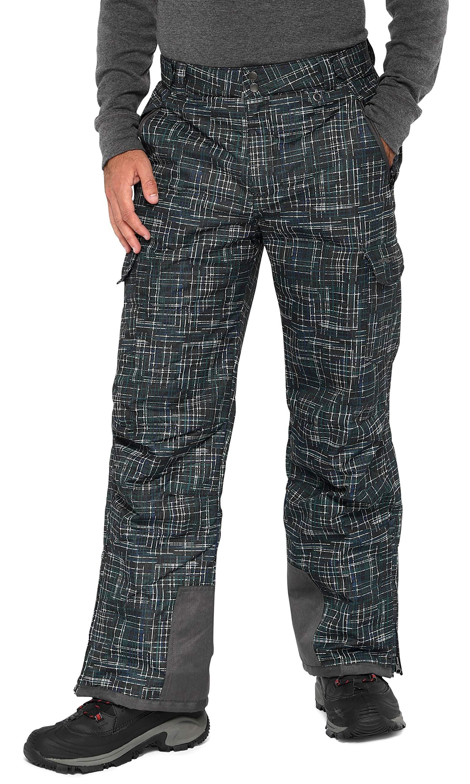 Arctix Men's Snow Sports Cargo Pants, Blizzard Print Black, Large/Regular by Arctix
