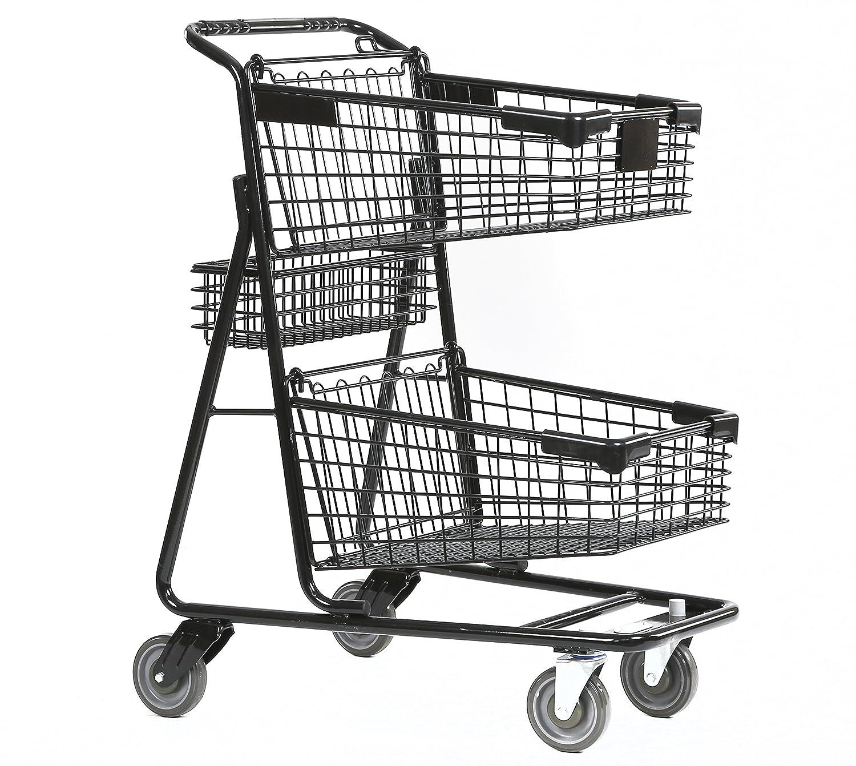 Amazon.com: Advance Carts 100x-Black-3pack XPress Series Shopping ...