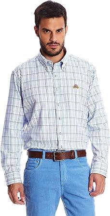 Spagnolo Camisa Hombre Villela Tercio Azul L: Amazon.es: Ropa y ...