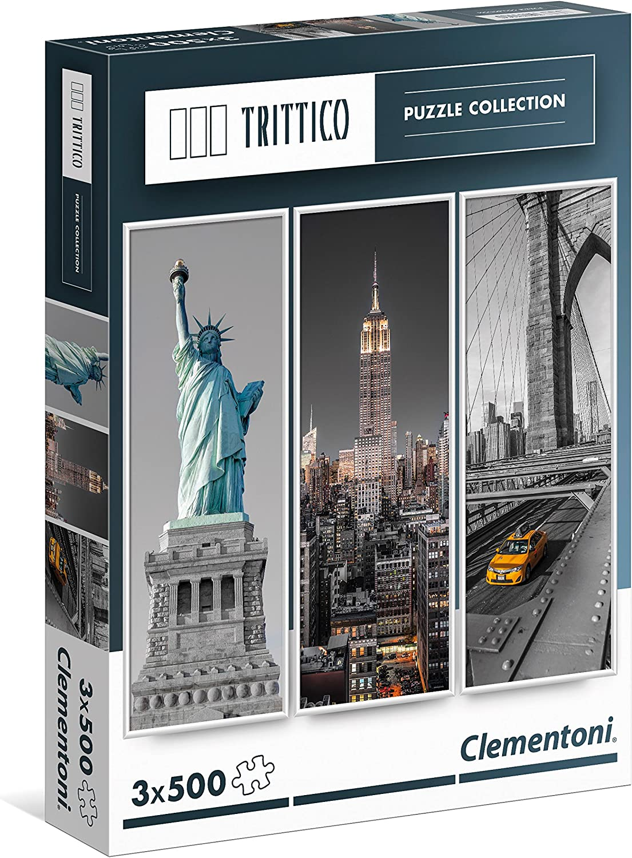 Clementoni - Puzzle Trittico 3 x 500 Piezas New York (39305 ...