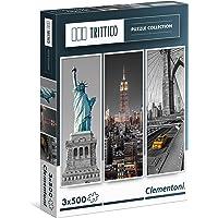Clementoni - Trittico New York 3x500 Parça Puzzle (39305)