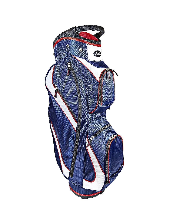 Club Champデラックスカートゴルフバッグ  レッド/ホワイト/ブルー B073KPX7JF