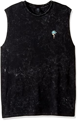 Men's Radicool Muscle Tee in Black Tie-Dye