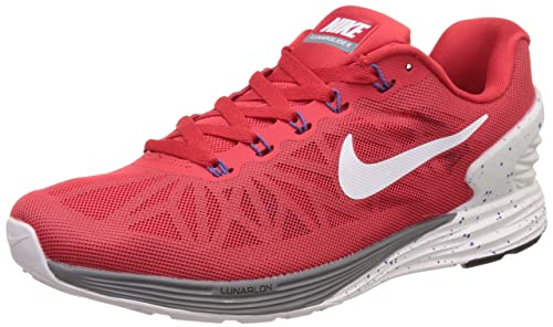 new concept 835a6 e6783 Nike Mens Lunarglide 6 Red Running Shoes -10 UKIndia (45 EU)(11 US) Buy  Online at Low Prices in India - Amazon.in