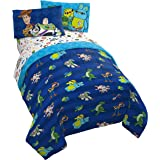 Jay Franco Disney Toy Story Buzz & Woody 4 Piece Twin Bed Set - Includes Reversible Comforter & Sheet Set - Super Soft Fade R