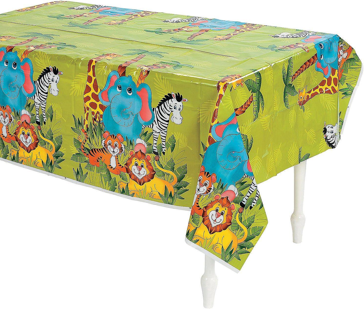 Jungle Safari ZEBRA Animal PRINT Plastic TABLE Cloth COVER Zoo Party Decoration
