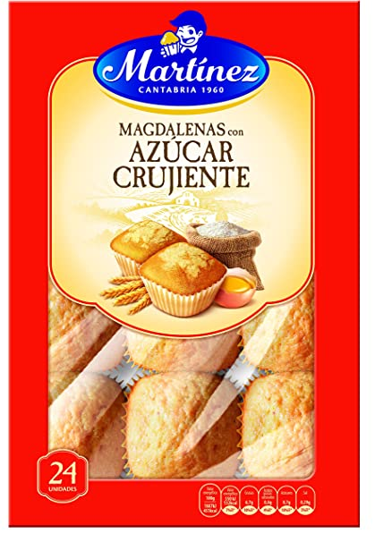 Martínez - Magdalenas Con Azúcar Crujiente, 24 unidades, 700 g: Amazon.es: Alimentación y bebidas