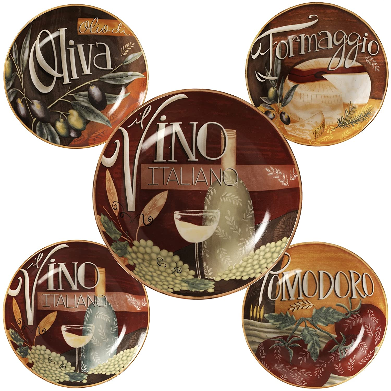 Certified International Bella Vita 5 Piece Pasta Bowls, Multicolor 89236