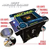 Creative Arcades Full-Size Commercial Grade Cocktail Arcade Machine | Trackball | 412 Classic Games | 2 Sanwa Joysticks…
