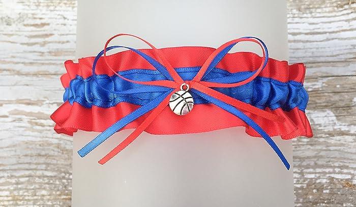 Amazon Royal Blue Red Basketball Themed Wedding Garter Keepsake