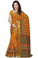 Rani Saahiba Women's Cotton Saree (Skr1756_Gold)
