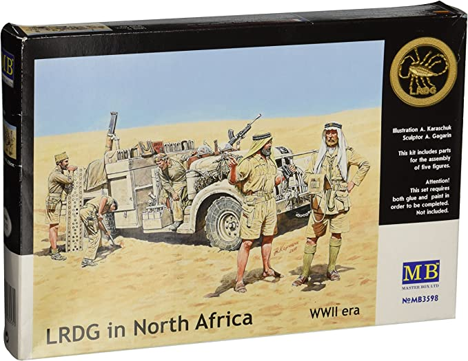 1:35 Scale 5 Master Box WWII Allied Forces N Africa Figure Model Building Kits