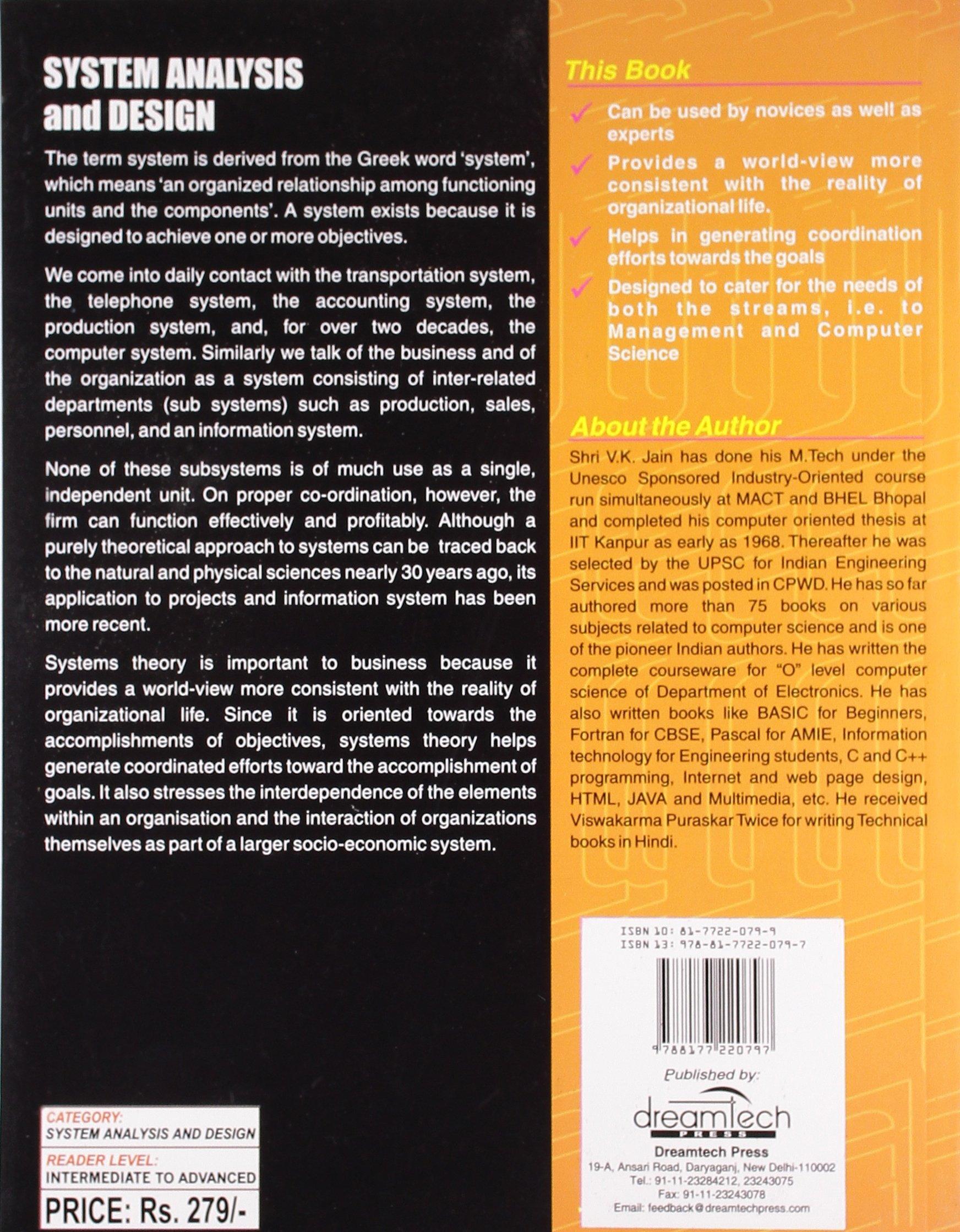 System Analysis And Design Handbook V K Jain 9788177220797 Amazon Com Books
