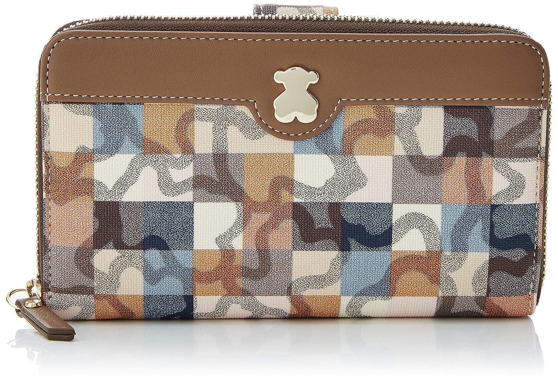 Tous Billetera Mediana Kaos Vichy, Cartera para Mujer, Multicolor (Marrón/Azul), 3x10x18 cm (W x H x L): Amazon.es: Zapatos y complementos